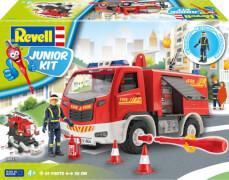 REVELL 00819 Junior Kit Feuerwehrwagen mit Figur 1:20, ab 4 Jahre