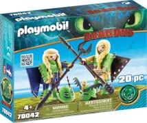 Playmobil 70042 Raffnuss und Taffnuss in Fluganzug