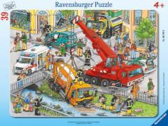 Ravensburger 67688 Rahmenpuzzle Rettungseinsatz, 39 Teile