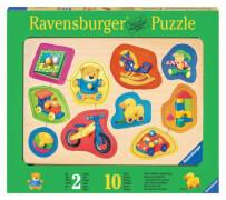 Ravensburger 36790  Holzpuzzle Liebste Spielsachen 10 Teile