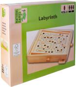 Natural Games Holz Labyrinth, Geschlicklichkeitsspiel, ca. 30x25,5 cm, für einen Spieler, ab 5 Jahren