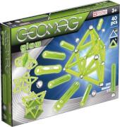 Geomag Glow 40 - Magnet-Konstruktions-Set 40-teilig, Kunststoff/Metall