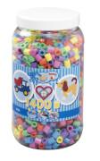 HAMA Bügelperlen Maxi - Pastell Mix 1400 Perlen (6 Farben) in Aufbewahrungsdose
